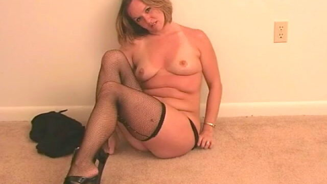 Excellent Blonde Spouse Tessa Stripping Black Lingeria And Teasing Us Together With Her Stockings