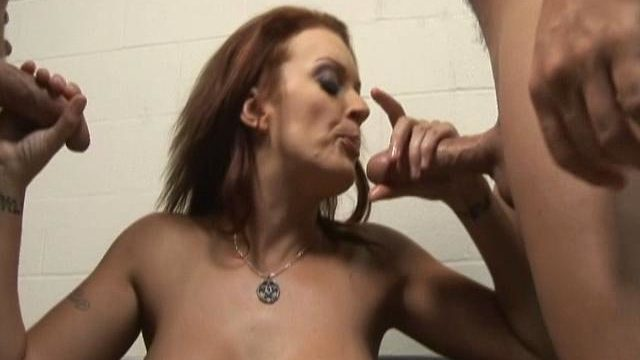 Monica Mayhem Is Helping Those Two Rock Onerous Dicks Cum