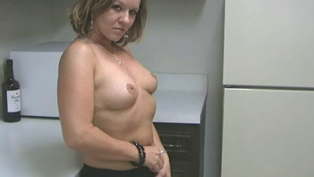 Sensuous Light-haired Wifey Tessa Groping Her Spectacular Bod With Fervor Within The Kitchen