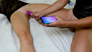 Far Flung Manage Hitachi And Trio Climaxes In A Row For A Strapped Lady